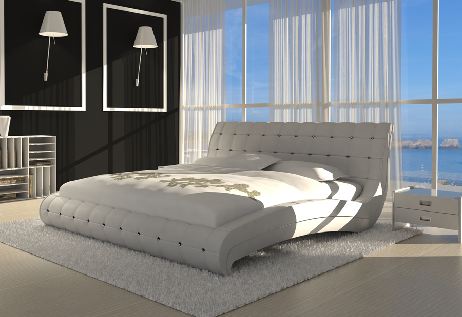 sam polsterbett 200 x 200 cm wei vederi g nstig. Black Bedroom Furniture Sets. Home Design Ideas