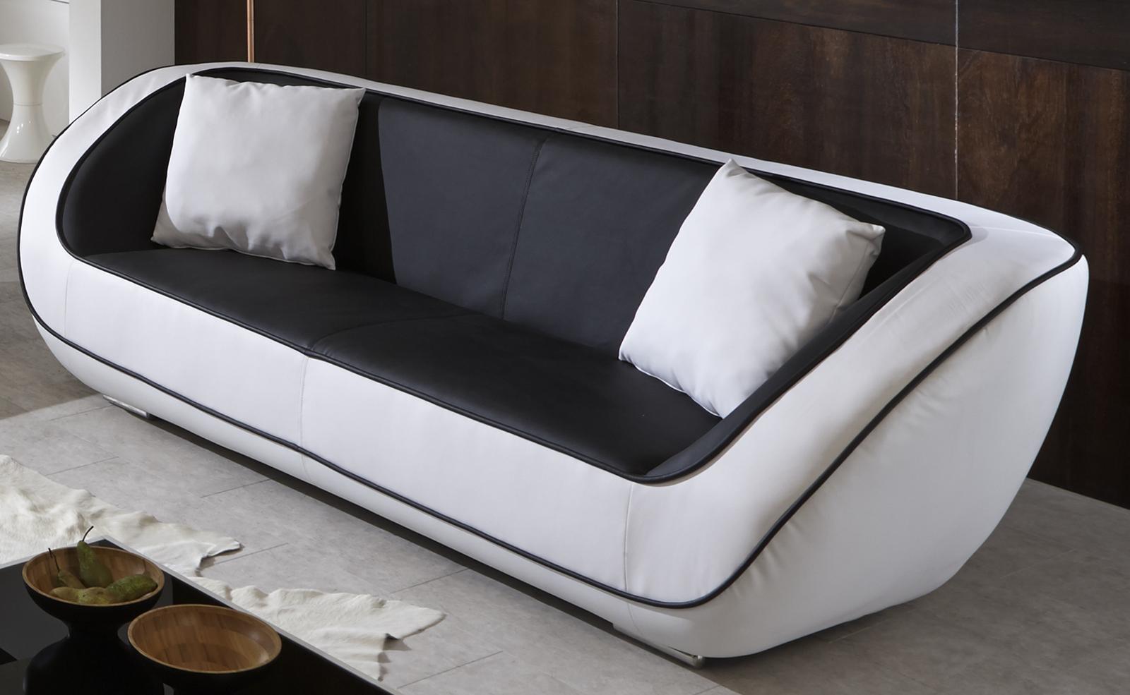 sam polstergarnitur 3tlg in schwarz wei navarra. Black Bedroom Furniture Sets. Home Design Ideas
