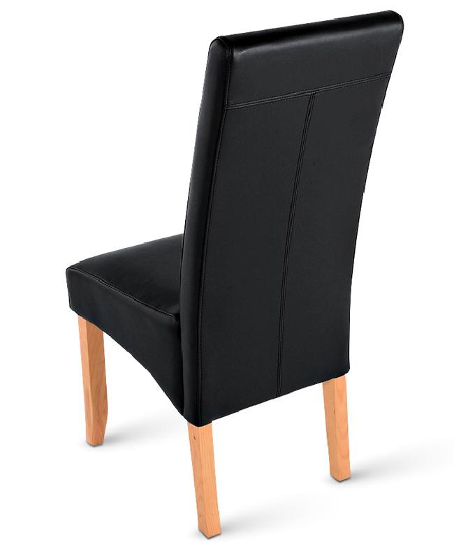 sam polsterstuhl recyceltes leder schwarz buche sancho. Black Bedroom Furniture Sets. Home Design Ideas