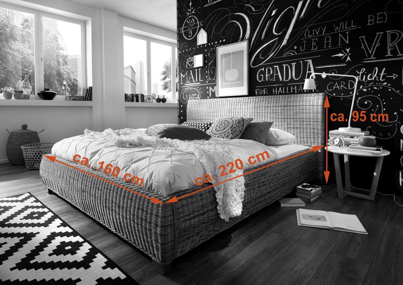 sam rattanbett 140 x 200 cm rattan ngan 9134. Black Bedroom Furniture Sets. Home Design Ideas