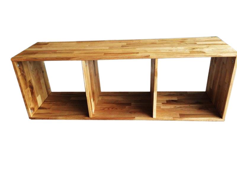sam regal wildeiche ge lt 3 f cher cube g nstig. Black Bedroom Furniture Sets. Home Design Ideas