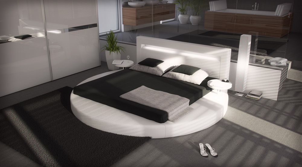 sam rundbett innocent 140 cm uni wei 39 39 sanctuary 39 39. Black Bedroom Furniture Sets. Home Design Ideas