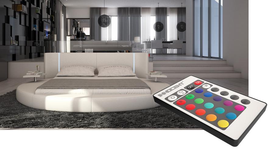 sam rundbett innocent 180 x 200 cm farbauswahl mugello led. Black Bedroom Furniture Sets. Home Design Ideas