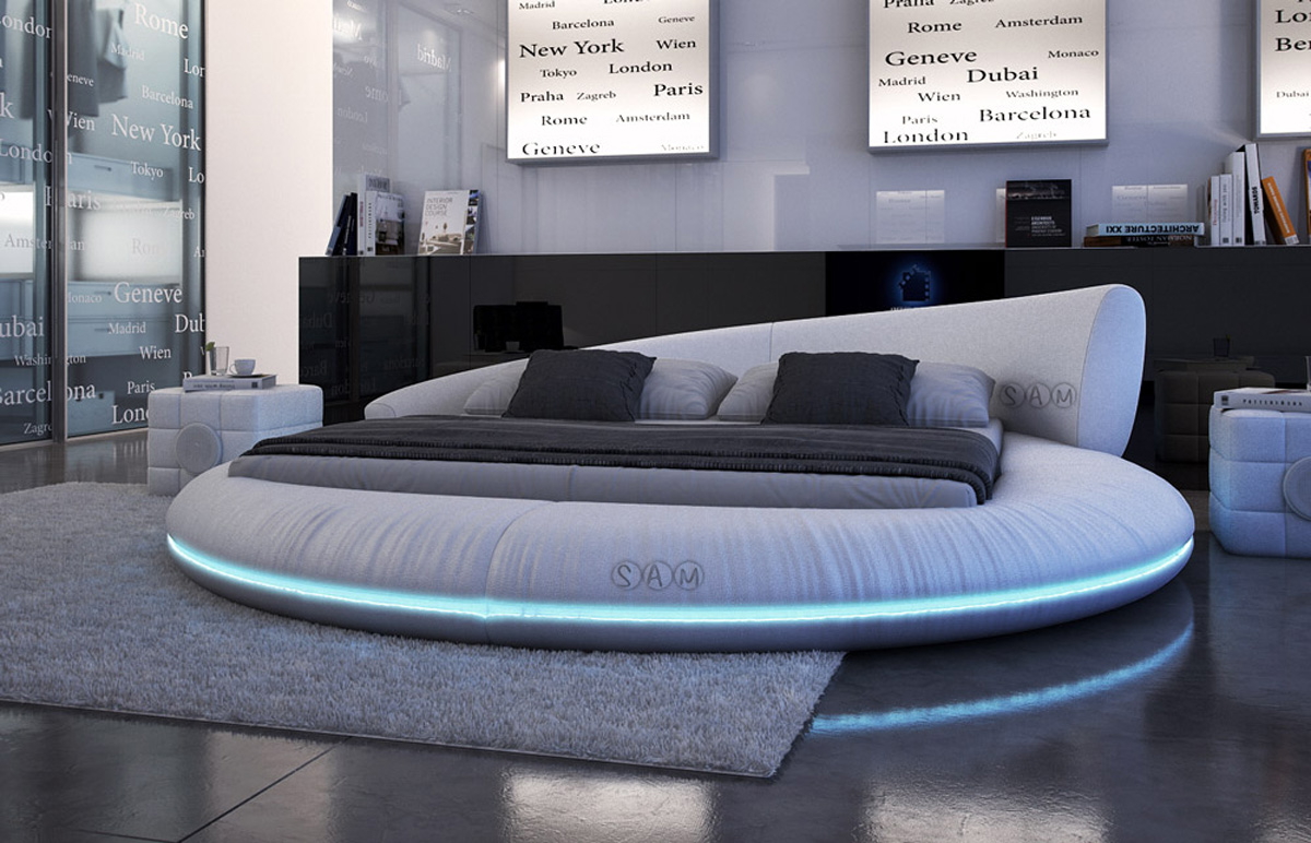 sam rundbett innocent 200 x 200 cm farbauswahl raisani. Black Bedroom Furniture Sets. Home Design Ideas