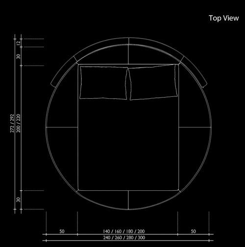 sam rundbett innocent 200 x 200 cm farbauswahl sfera. Black Bedroom Furniture Sets. Home Design Ideas