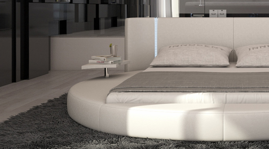 sam rundbett innocent 200x 220 cm led farbauswahl mugello. Black Bedroom Furniture Sets. Home Design Ideas