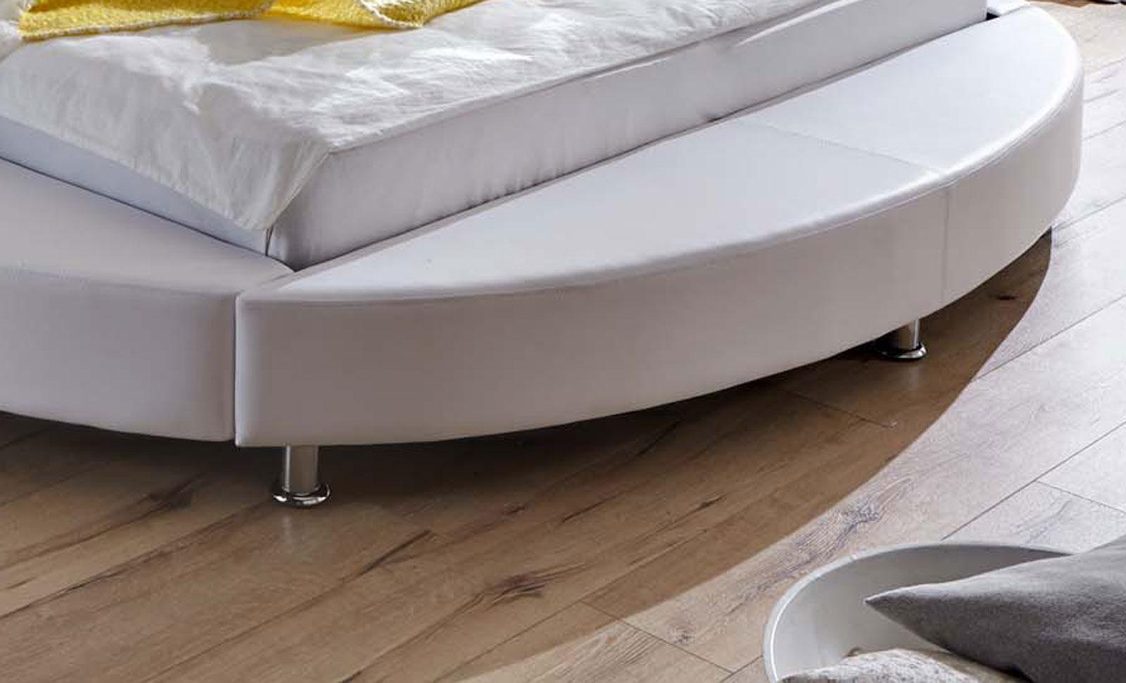 sam rundbett bebop 180 x 200 cm wei grau. Black Bedroom Furniture Sets. Home Design Ideas