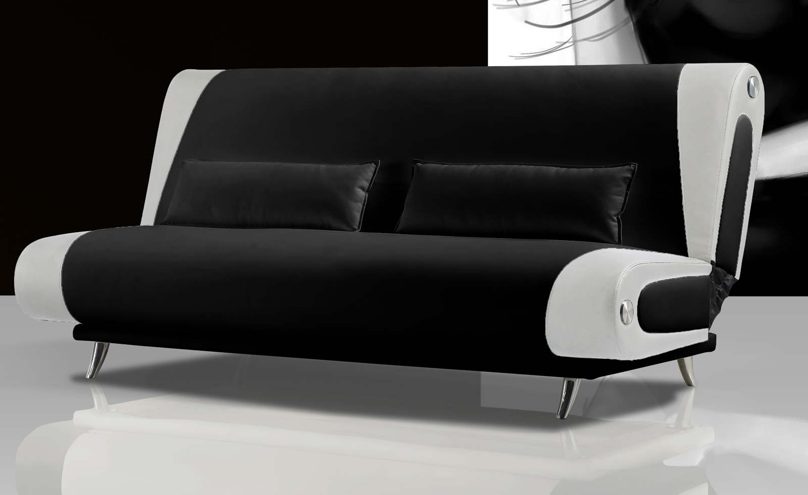 sam schlafsofa schwarz wei sofa milano 200 cm. Black Bedroom Furniture Sets. Home Design Ideas