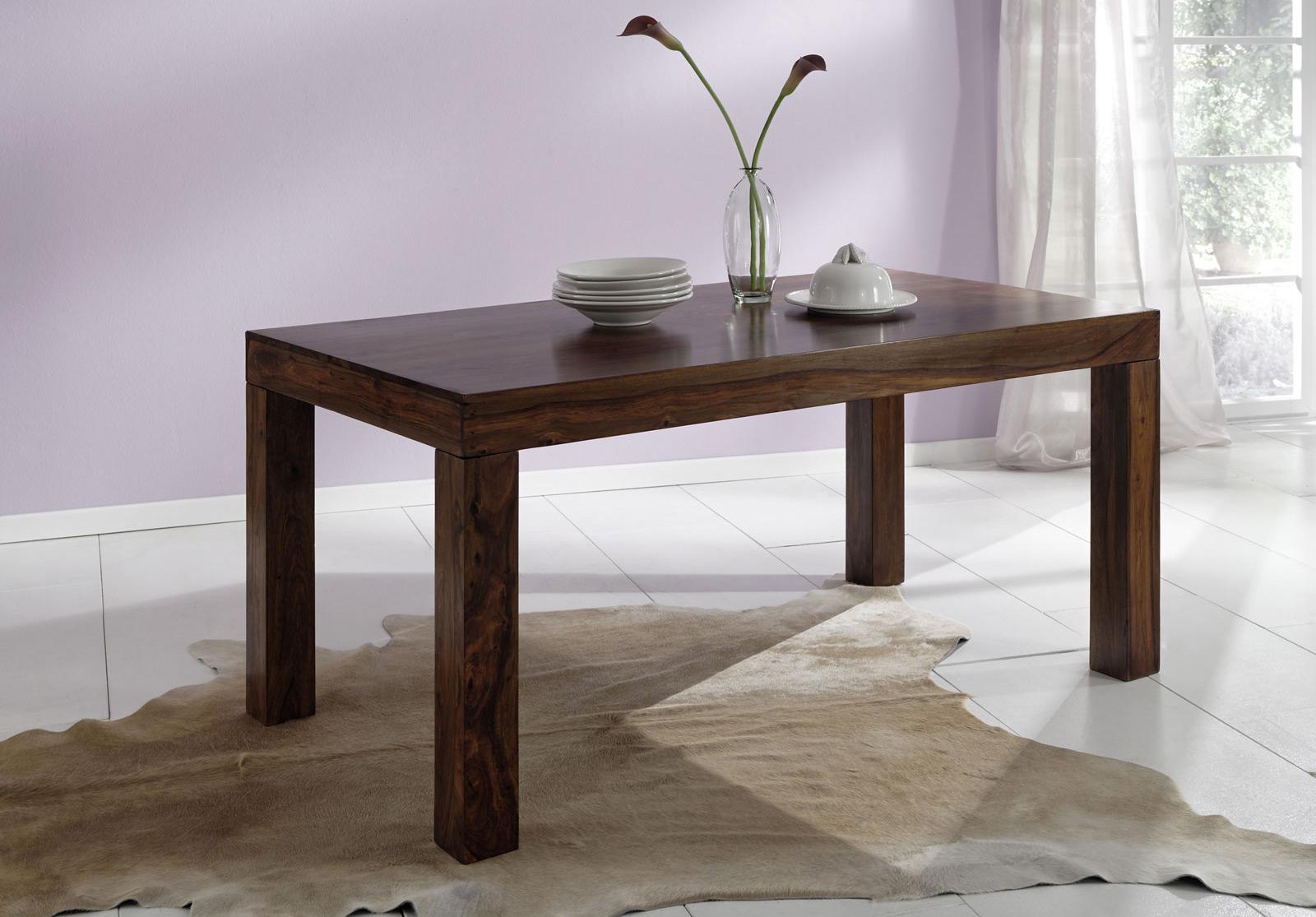 sam sheesham holztisch cubus 7028 200x100 cm walnuss ge lt. Black Bedroom Furniture Sets. Home Design Ideas