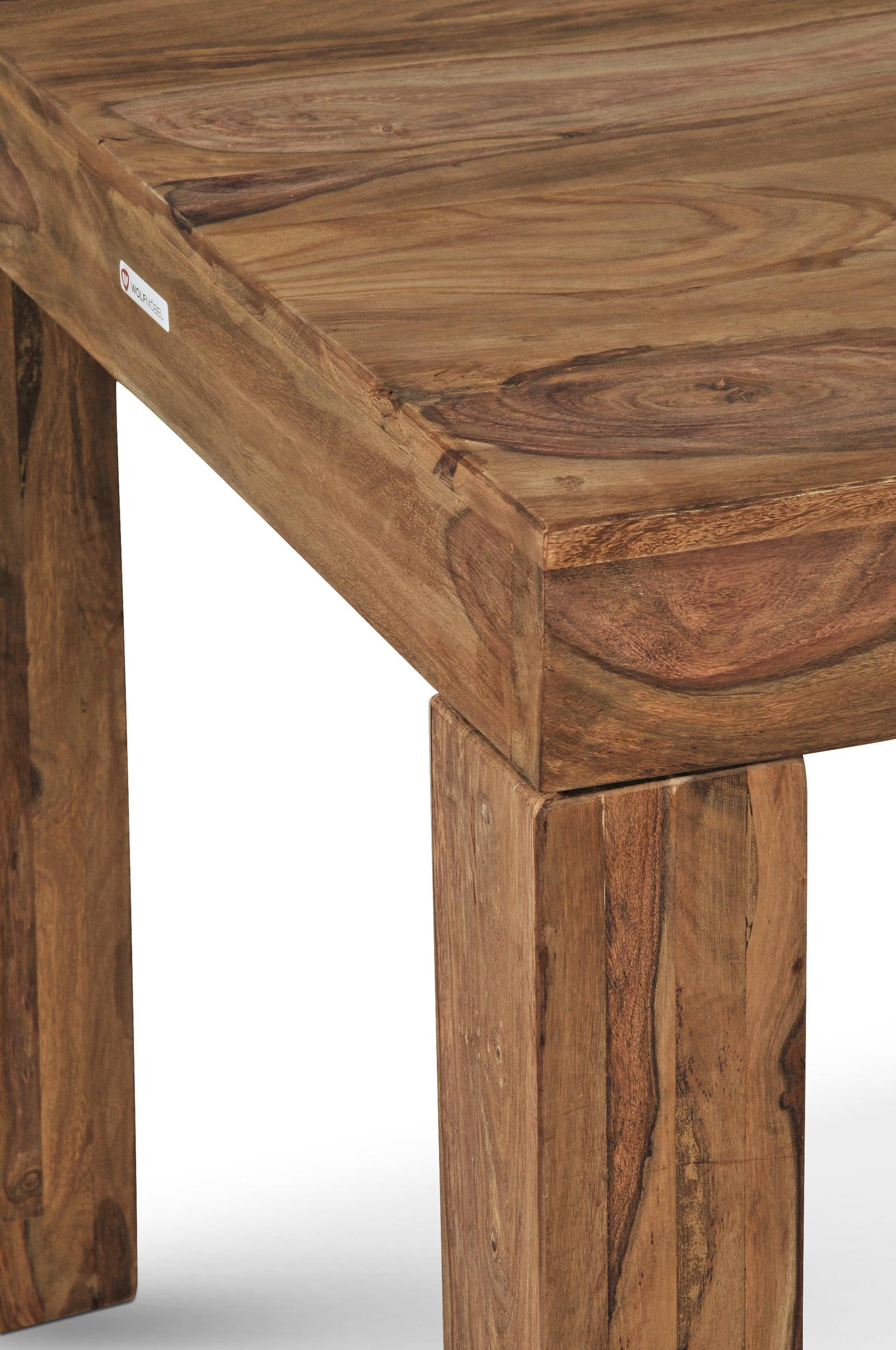 sam sheesham holztisch cubus 7028 ge lt 200 x 100 cm natur. Black Bedroom Furniture Sets. Home Design Ideas