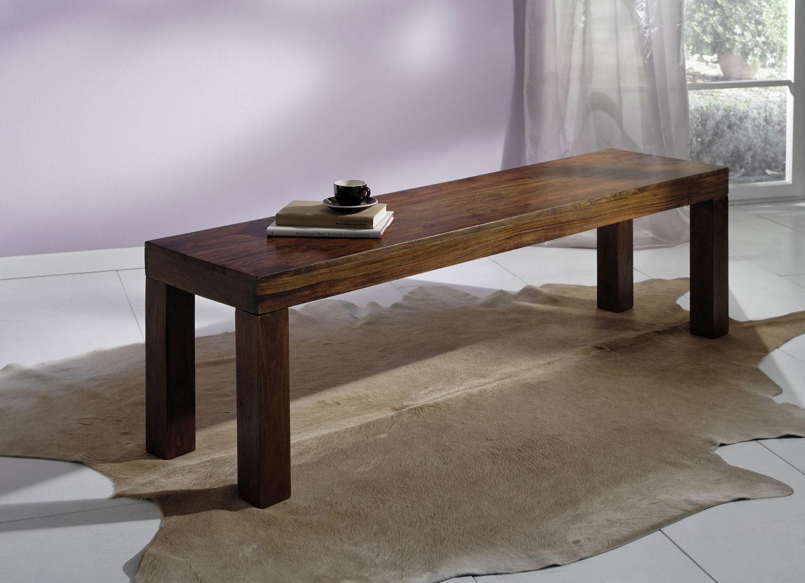 sam sheesham sitzbank ge lt walnuss 160 x 40 cm cubus 7047. Black Bedroom Furniture Sets. Home Design Ideas
