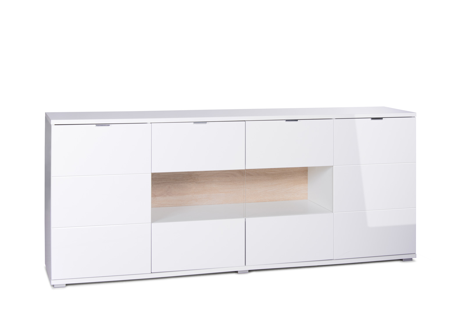 Sam sideboard holz 200 x 85 cm glossy 5 g nstig for Sideboard 200 cm holz