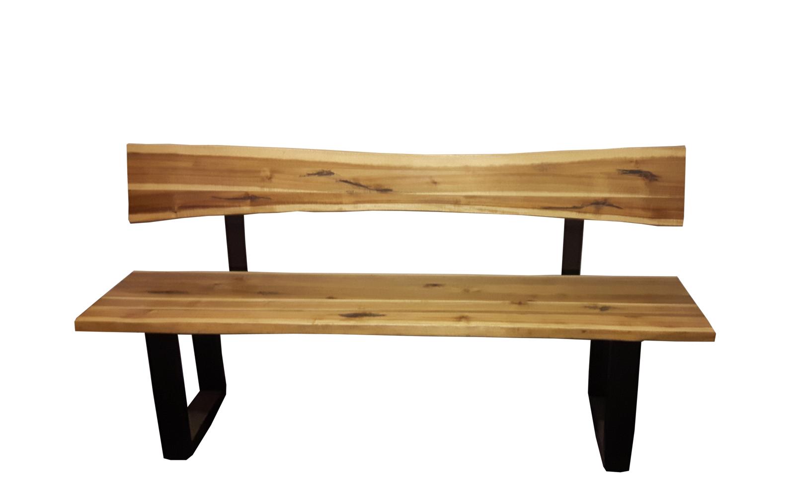 sam sitzbank mit r ckenlehne quentin akazie massiv 180 cm. Black Bedroom Furniture Sets. Home Design Ideas