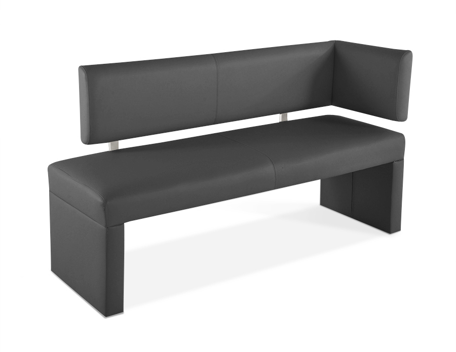 sam sitzbank ottomane recyceltes leder 130 cm grau sabatina demn chst. Black Bedroom Furniture Sets. Home Design Ideas