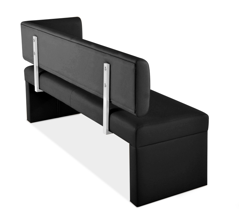 sam sitzbank ottomane recyceltes leder 150 cm schwarz. Black Bedroom Furniture Sets. Home Design Ideas