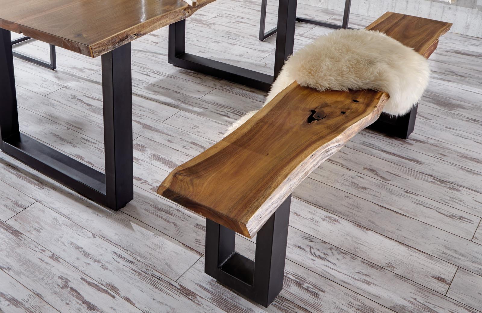 sam sitzbank quentin akazie massiv 200 cm g nstig. Black Bedroom Furniture Sets. Home Design Ideas