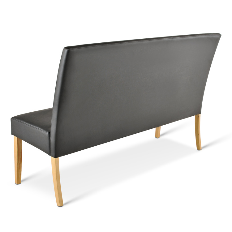 sam sitzbank sancho 140 cm recyceltes leder schwarz buche. Black Bedroom Furniture Sets. Home Design Ideas