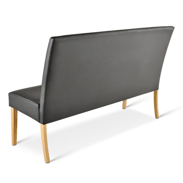 sam sitzbank sancho 140 cm recyceltes leder schwarz buche. Black Bedroom Furniture Sets. Home Design Ideas