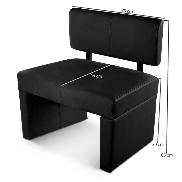 sam sitzbank sofia 80 cm recyceltes leder schwarz demn chst. Black Bedroom Furniture Sets. Home Design Ideas