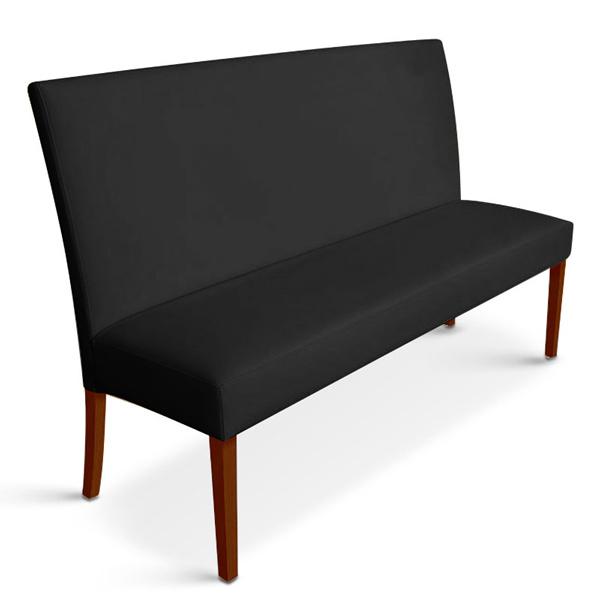 sam sitzbank stefano 140 cm recyceltes leder schwarz kolonial. Black Bedroom Furniture Sets. Home Design Ideas