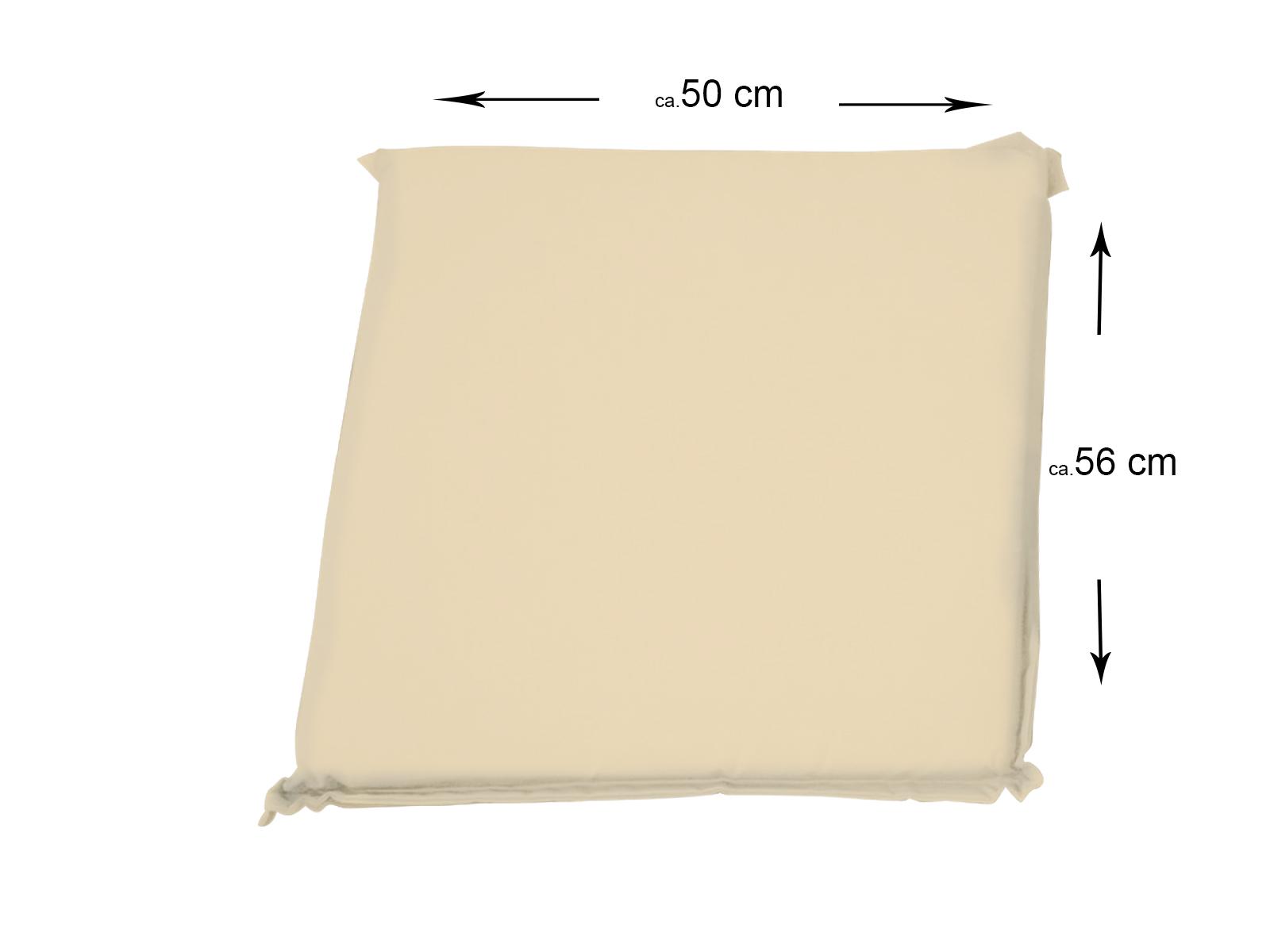 sam sitzkissen 50x56cm f r gartenst hle beige. Black Bedroom Furniture Sets. Home Design Ideas