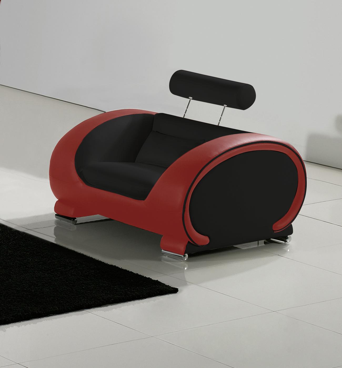 sam sofa garnitur 3tlg in schwarz rot vigo 3 2 1. Black Bedroom Furniture Sets. Home Design Ideas
