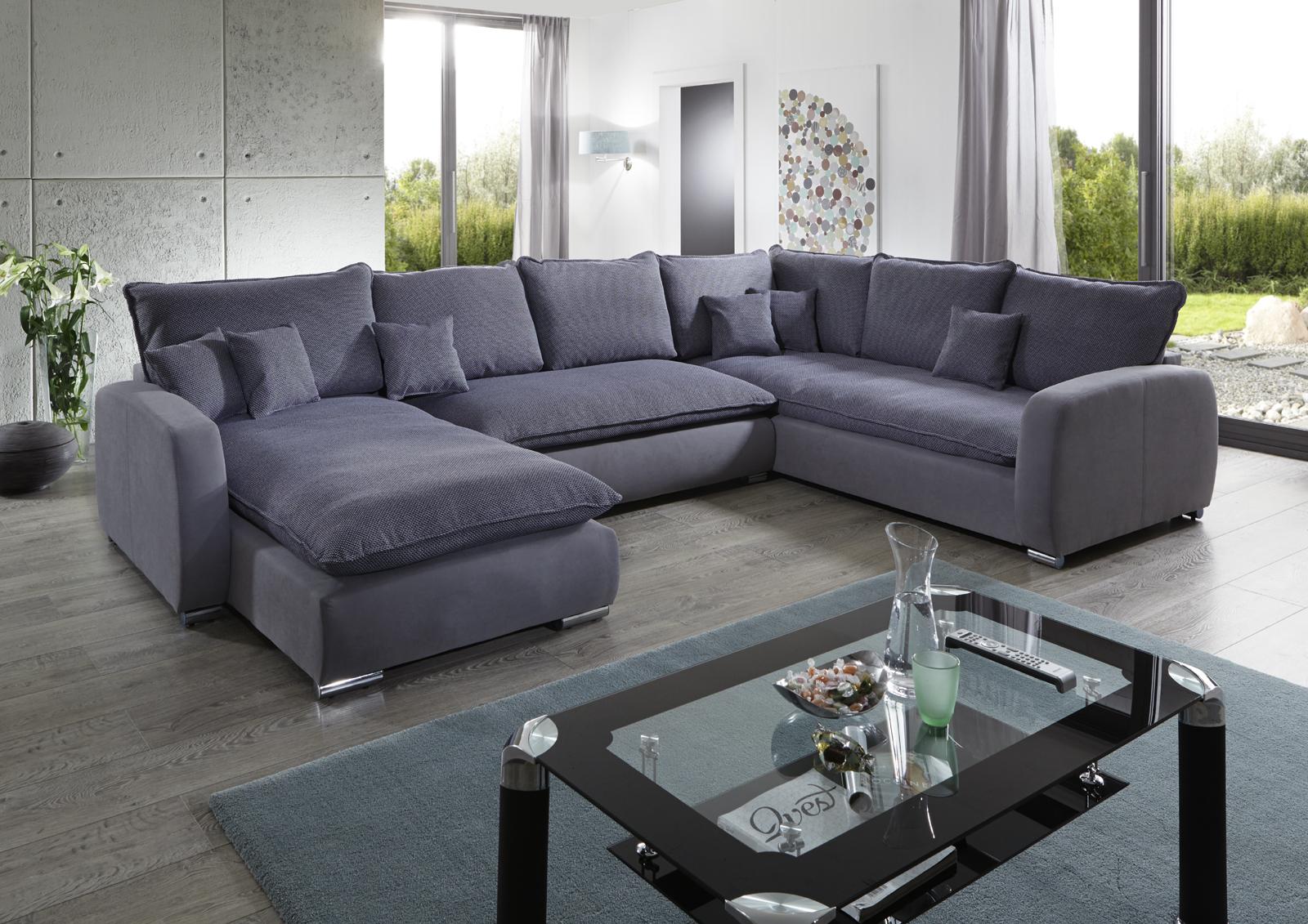 sam sofa grau wohnlandschaft scala 180 x 350 x 230 cm. Black Bedroom Furniture Sets. Home Design Ideas