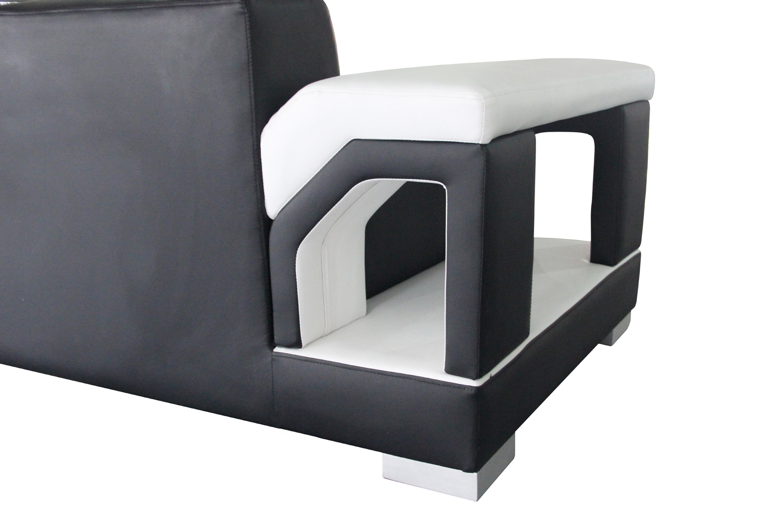 sam sofa schwarz wei wohnlandschaft zippora 166 x 390. Black Bedroom Furniture Sets. Home Design Ideas
