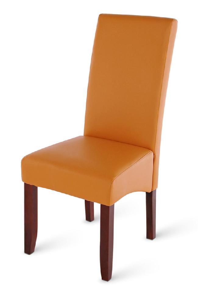 Sam stuhl set aus recyceltem leder in cognac kolonial 4 2 - Stuhl leder cognac ...