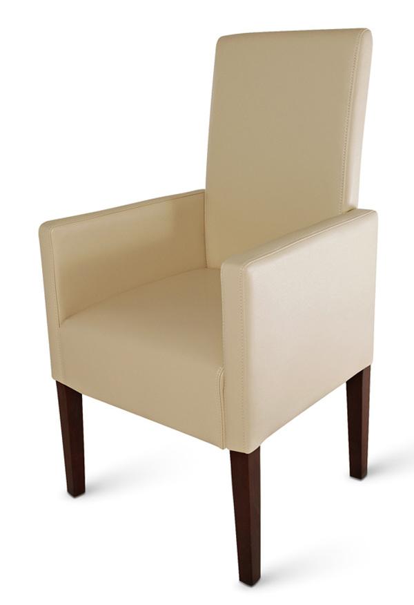 sam stuhl set aus recyceltem leder in creme kolonial 4 2. Black Bedroom Furniture Sets. Home Design Ideas