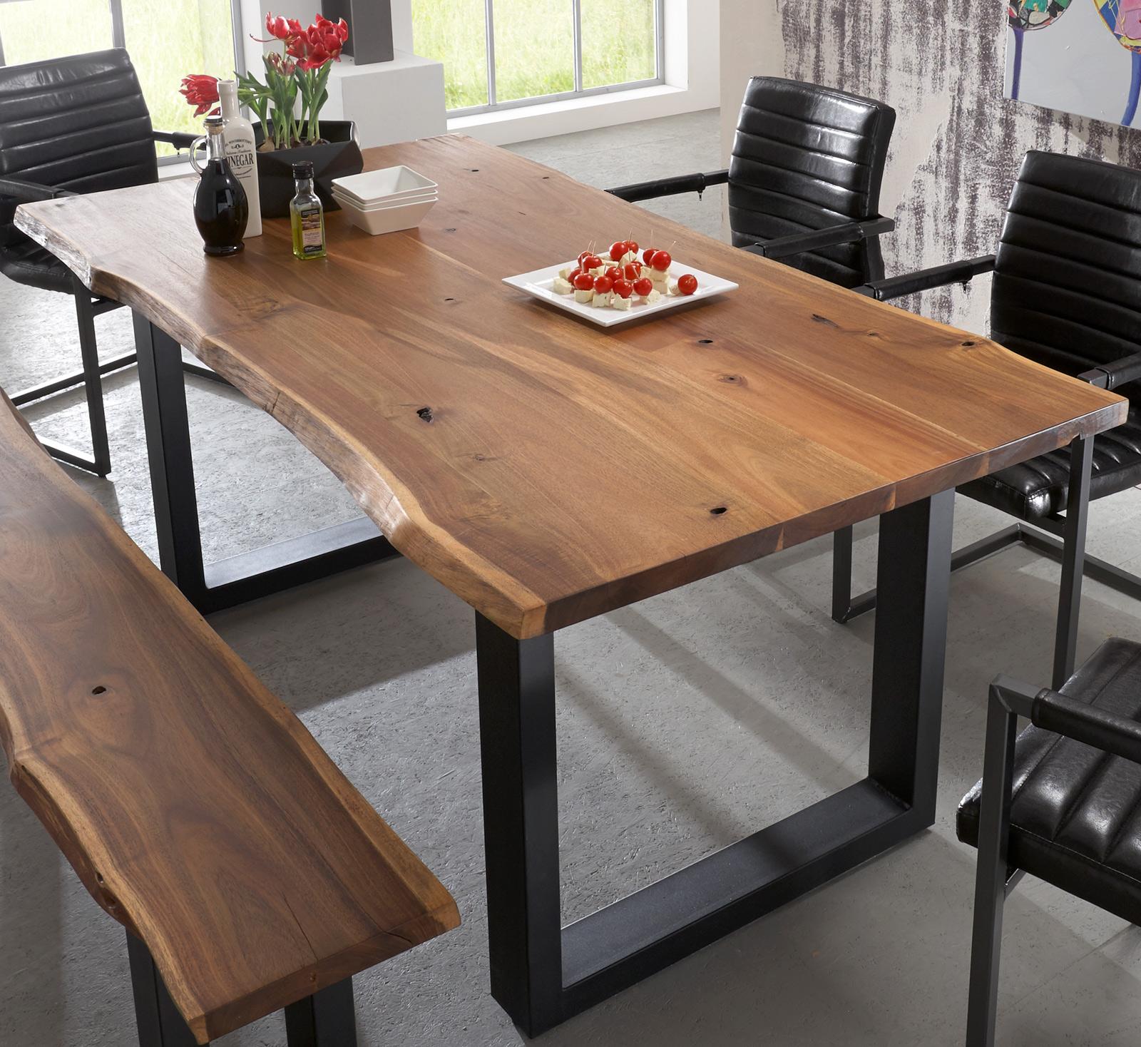 sam tischgruppe 6tlg 180 cm akazie quentin parzivo farbauswahl. Black Bedroom Furniture Sets. Home Design Ideas