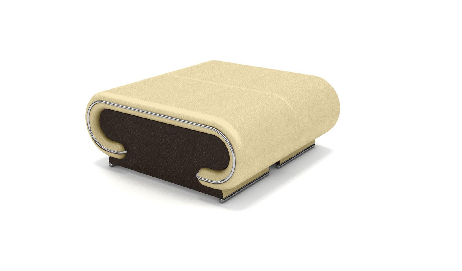 SAM® Wohnzimmer Design Hocker beige braun Farbauswahl Vigo