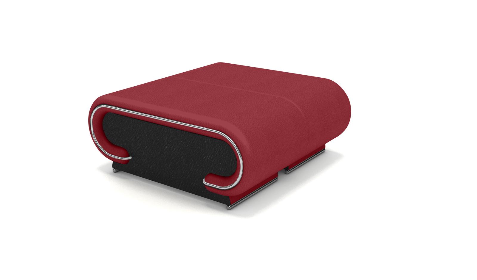 Sam® wohnzimmer design hocker rot schwarz farbauswahl vigo