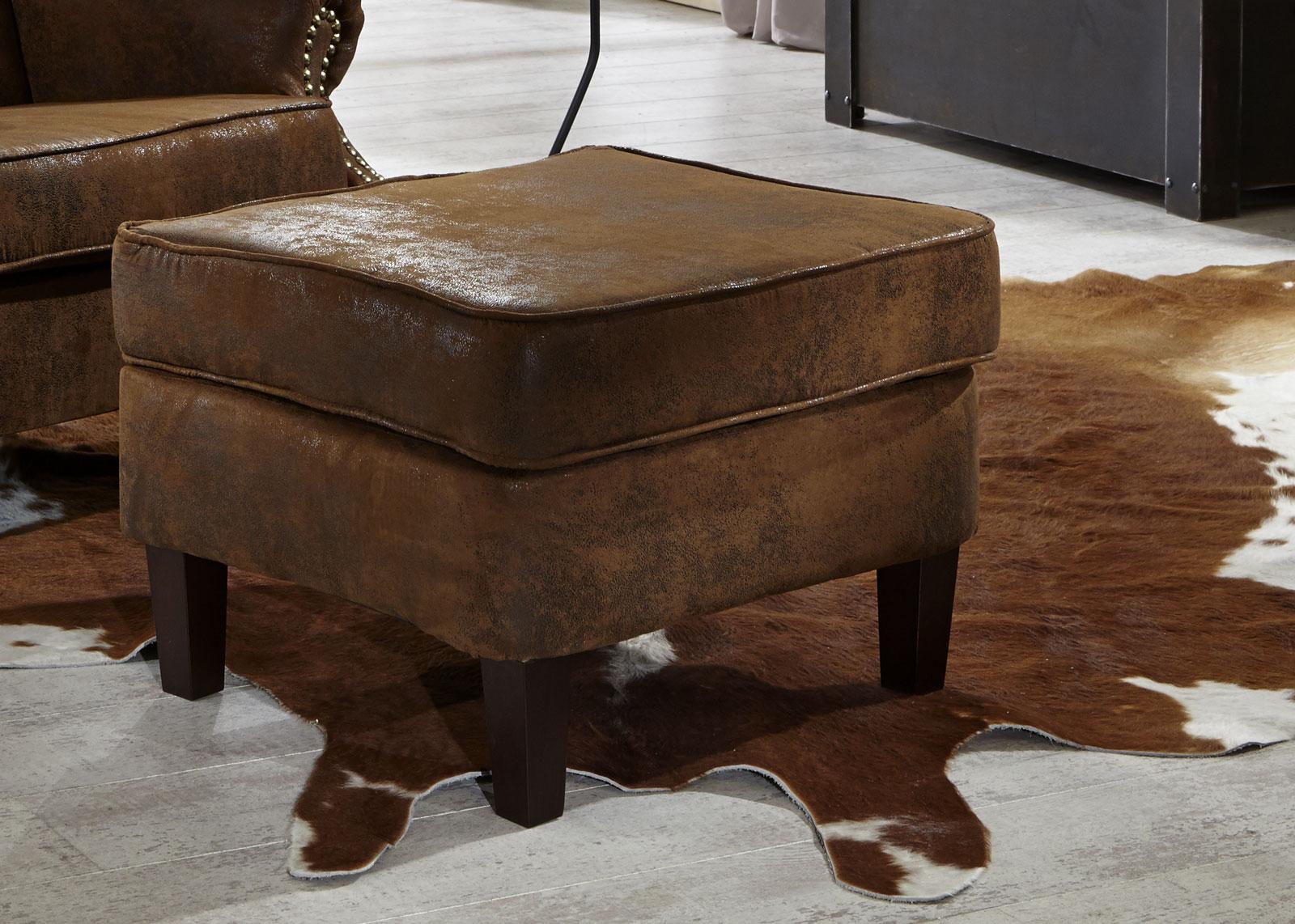 SAM® Wohnzimmer Design Hocker Wildlederoptik Bedford