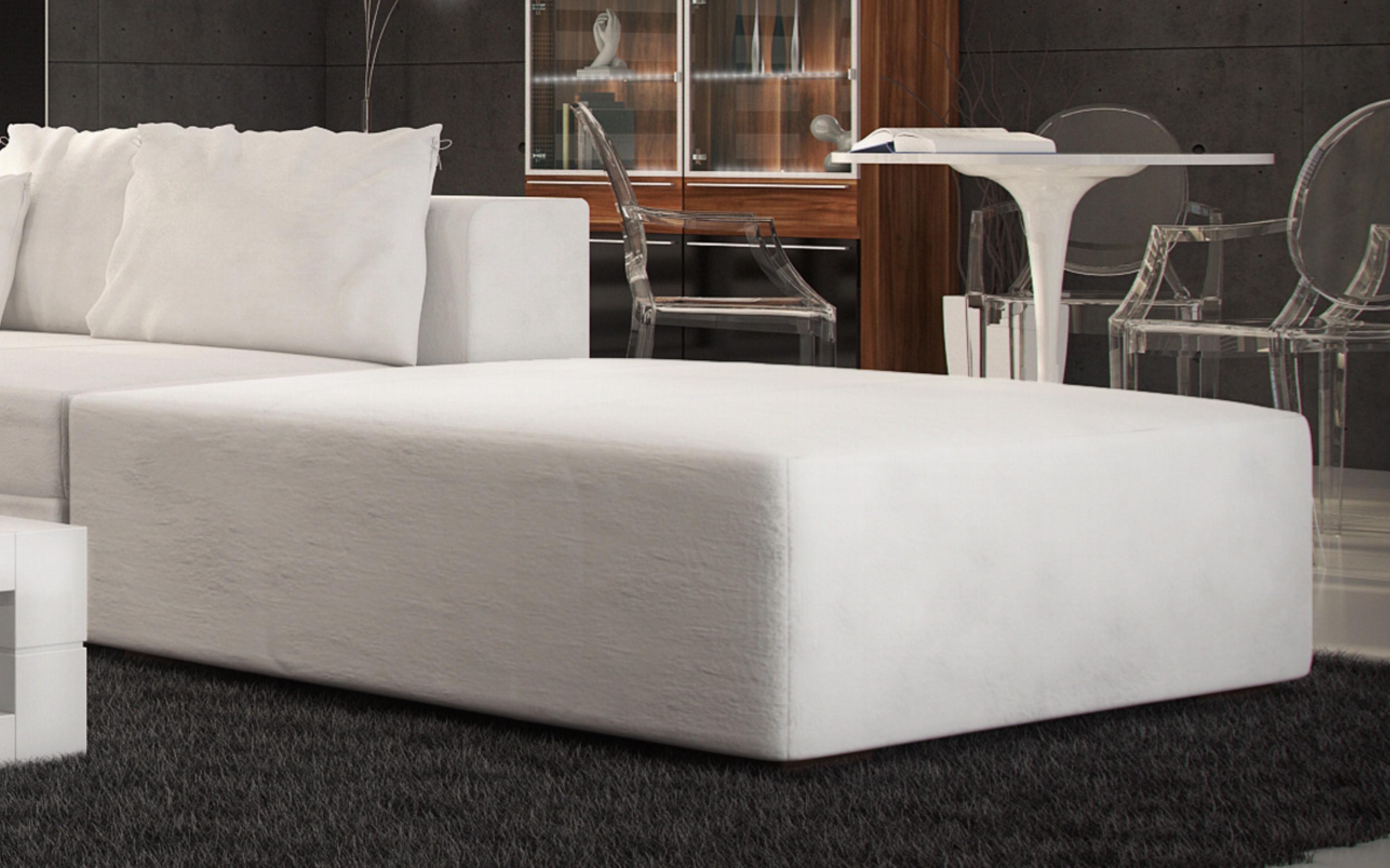 SAM® Wohnzimmer Hocker passend zur Couch Amare weiß