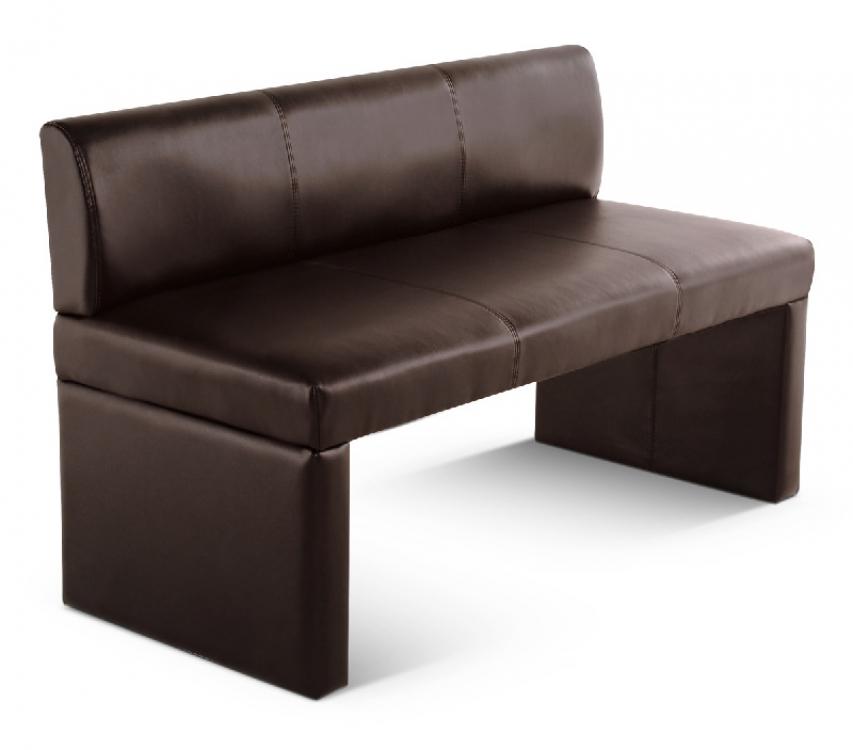 sam sitzbank mit lehne braun 126 cm recyceltes leder toulouse. Black Bedroom Furniture Sets. Home Design Ideas