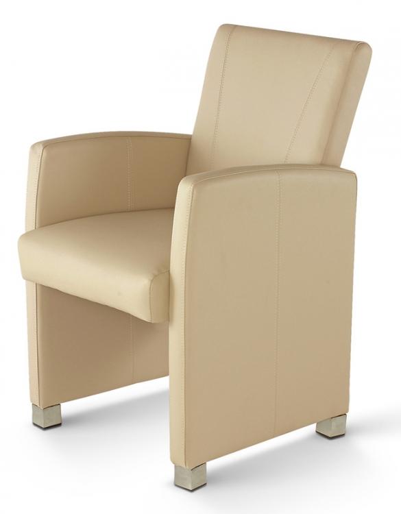 sam esszimmerstuhl sessel creme recyceltes leder max. Black Bedroom Furniture Sets. Home Design Ideas