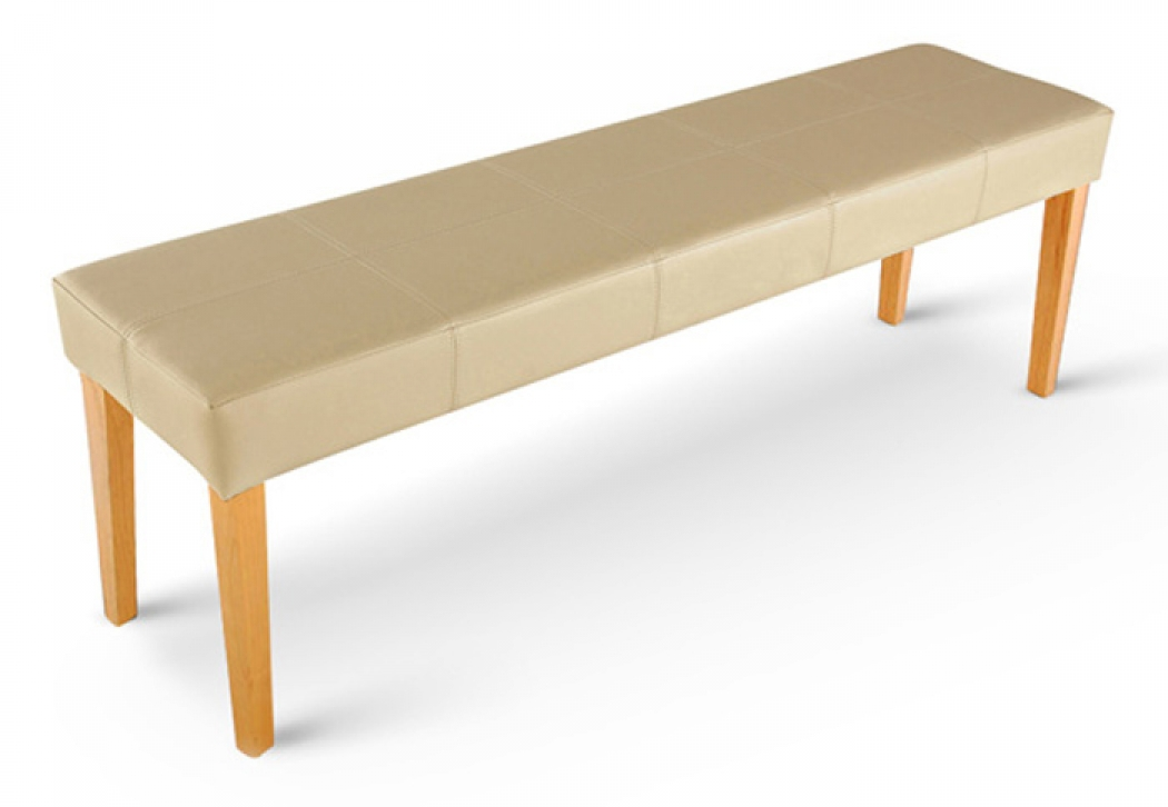 sam sitzbank 145 cm recyceltes leder creme buche enzio. Black Bedroom Furniture Sets. Home Design Ideas