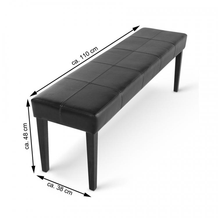 sam esszimmerbank sitzbank 110 cm braun recyceltes leder enzio. Black Bedroom Furniture Sets. Home Design Ideas