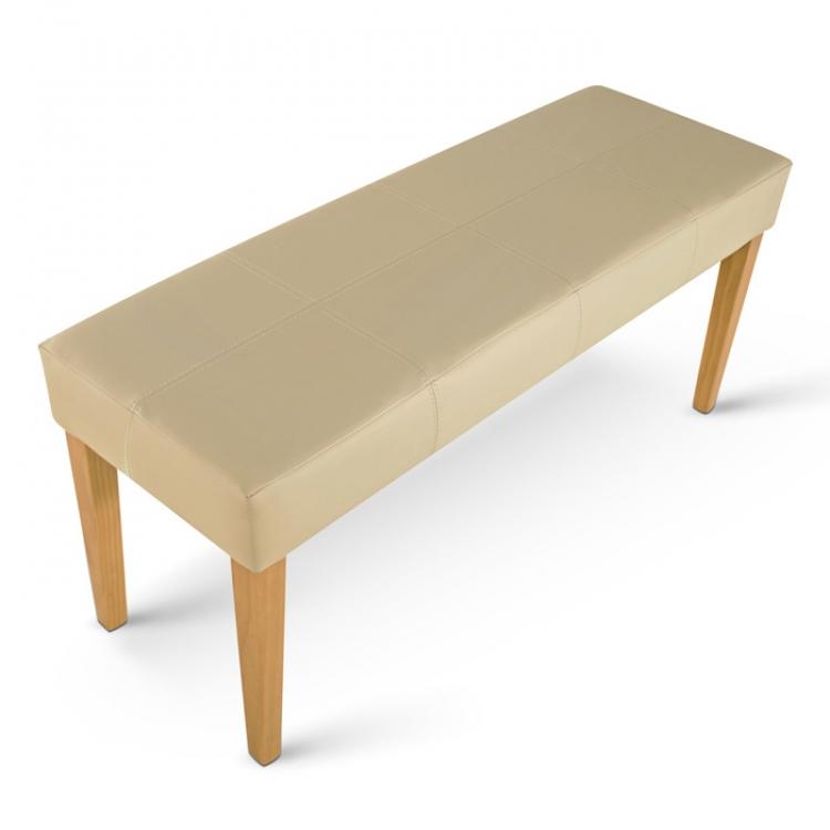 sam esszimmerbank sitzbank 110 cm creme recyceltes leder. Black Bedroom Furniture Sets. Home Design Ideas