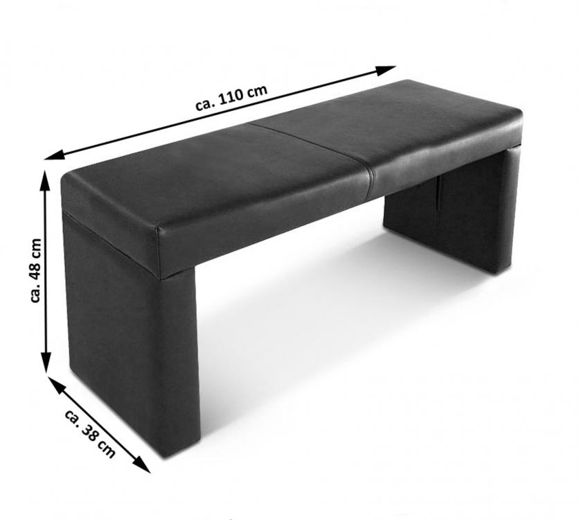 sam esszimmer sitzbank recyceltes leder schwarz 110 cm rico. Black Bedroom Furniture Sets. Home Design Ideas