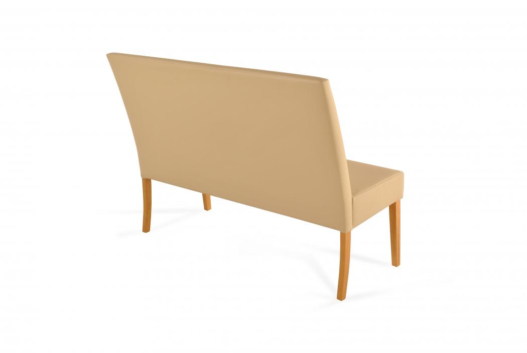 sam esszimmerbank mit lehne 160 cm creme recyceltes leder. Black Bedroom Furniture Sets. Home Design Ideas