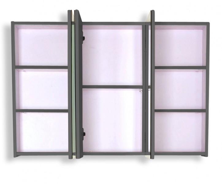 sam 3tlg badezimmer set hochglanz wei grau 110cm lugano. Black Bedroom Furniture Sets. Home Design Ideas
