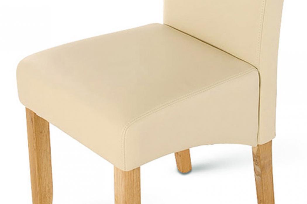 sam esszimmerstuhl stuhl creme recyceltes leder bozen demn chst. Black Bedroom Furniture Sets. Home Design Ideas