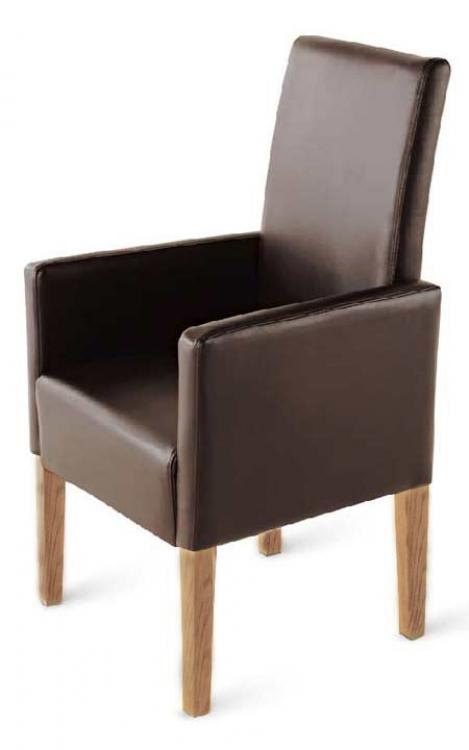 sam esszimmerstuhl armlehnstuhl braun recyceltes leder urdana. Black Bedroom Furniture Sets. Home Design Ideas