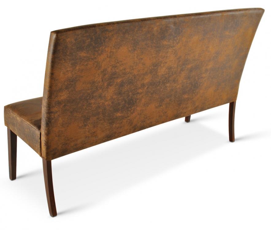 sam sitzbank mit lehne 140 cm stoff in wildleder optik. Black Bedroom Furniture Sets. Home Design Ideas