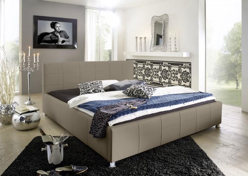 SAM\u00ae Design Bett 160 x 200 cm muddy KIRA g\u00fcnstig