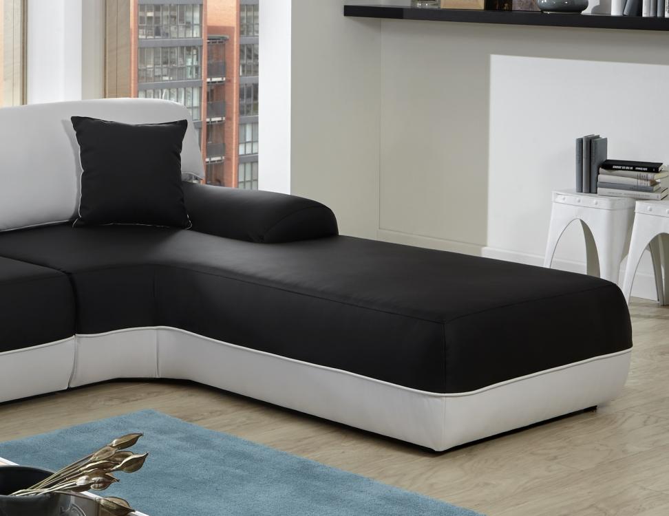 Sam® Design Ecksofa Couch Schwarz Weiß Impulso 260 X 220 Cm