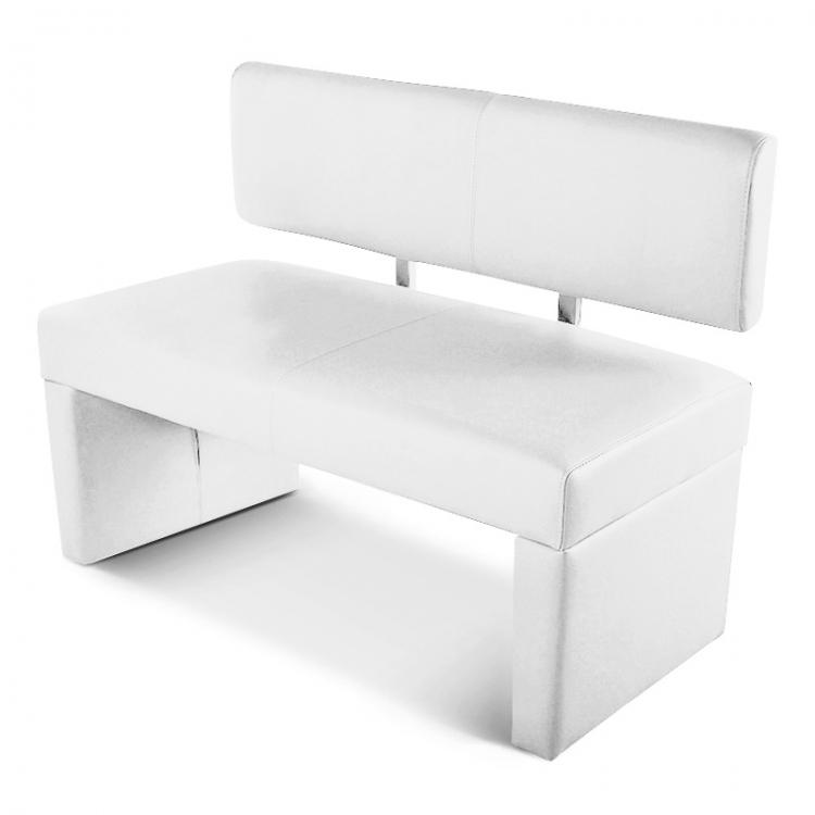 sam esszimmerbank 125 cm wei recyceltes leder selena. Black Bedroom Furniture Sets. Home Design Ideas