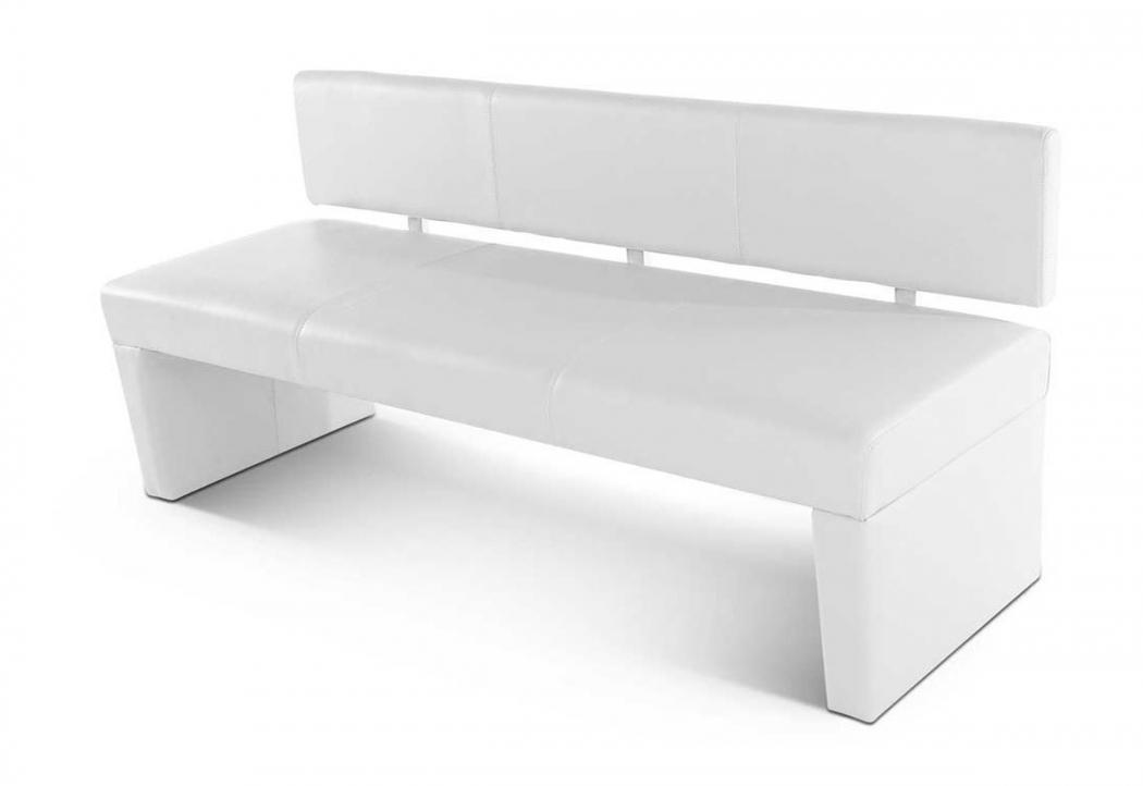 sam sitzbank mit lehne 200 cm wei recyceltes leder. Black Bedroom Furniture Sets. Home Design Ideas